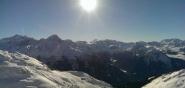 Ausblick über die Berglandschaft