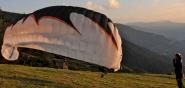 Aufziehphase Paragliding im Höhenflugkurs